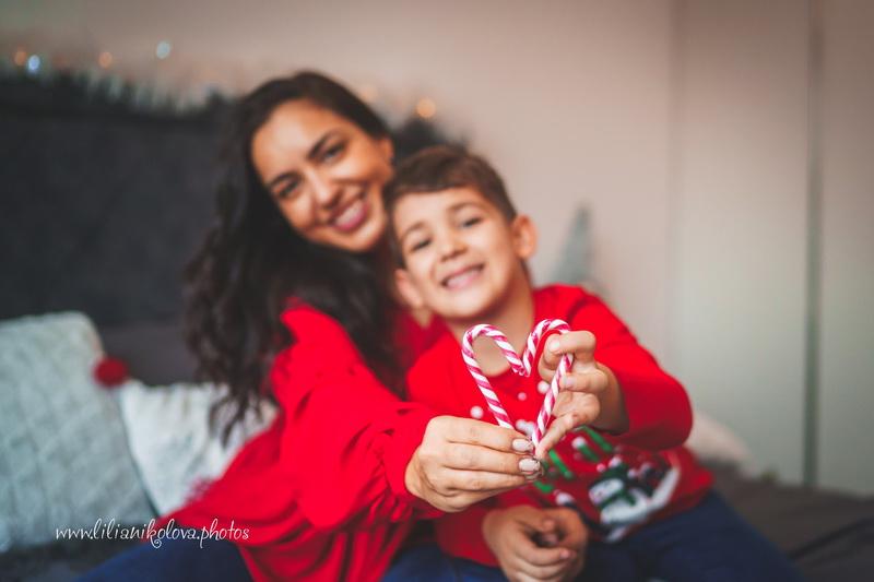 Коледни фотосесии у дома